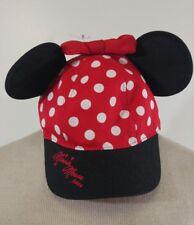 Minnie Mouse Ears Girls Youth Snapback Cap Hat Authentic Walt Disney World Kids
