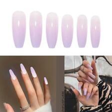 24 Pcs Fake Nails Art Tips Nail False Sharp Extra Long Full Cover Manicure Decor