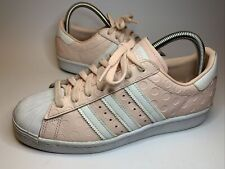 ADIDAS SUPERSTAR 80's Trainers DEBOSSED PINK POLKA DOT TRAINERS SIZE 6.5 UK RARE