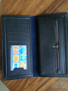 Mens Long Casual Leather Wallet Pockets Card Clutch Cente Bifold Purse Black
