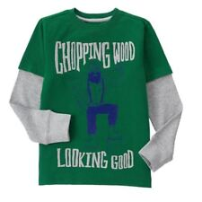 Gymboree All Spruced Up Lumberjack Top New Nwt Boys 4 Wood Good Green