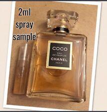 CHANEL COCO Sample Only AUTHENTIC 2ml Mini Parfum Travel Purse Perfume FRESH!