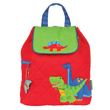 Stephen Joseph Boys Quilted Dinosaur Backpack - Cute Toddler Preschool Book Bags