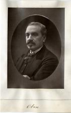 Louis-Henry Obin, ténor Vintage print Photoglyptie  8x12  Circa 1880