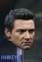 """Hawkeye 1:6 Male Head Sculpt Carving Model Avengers Jeremy Renner for 12"""" Figure"""