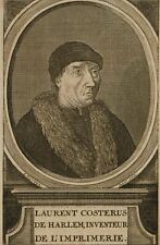 HARREWIJN, Bildnis des niederl. Kaufmanns Laurent Costerus, 18. Jh., Radierung