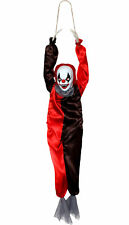 3FT ANIMATED CLOWN HALLOWEEN LIGHT UP MOVING WITH SOUND DECORATION PARTY PROP