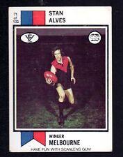 1974 SCANLENS CARD - STAN ALVES - MELBOURNE
