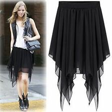 2015 Woman celebrity Chiffon Pleated irregular Boho dress Elastic Waist Skirt