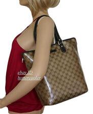 NEW Authentic GUCCI Crystal GG Canvas Bucket Tote Bag Handbag NWT 265693 9903