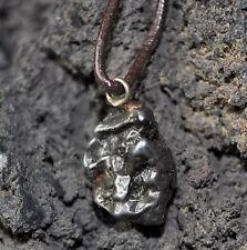 Meteoriten Halskette mit echtem Campo del Cielo Meteoriten und Lederband!!
