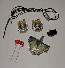 Telecaster Guitar Wiring Kit CTS 500K Solid Shaft Pots Orange Drop .047uf Cap