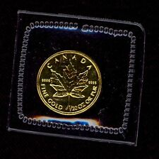 1/20 oz GOLD COIN CANADIAN MAPLE LEAF MINT SEALED .9999