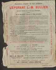 """PARIS (XIV°) ATELIERS / EPURATEURS à GAZ Acetylene """"Ets. L.-M. BULLIER"""""""