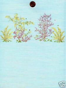 Dollhouse Wallpaper / 3 Sheets Mini Springtime PaleBlue