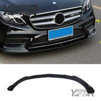 Front Lip For Benz E-Class Sport W213  E400 E43 AMG 2016-19 Carbon Fiber Style