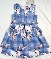 Dress Angel & Rocket designer girls party wedding blue scuba rrp £40 3- 10 years