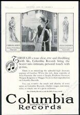 1916 Carolina White Julia Claussen opera pix Columbia Records vintage print ad