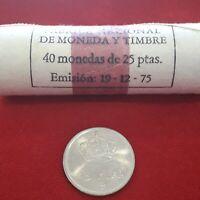 monedas de 25 ptas emision del 1975