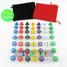 DND Table 49PCS 2015 ALL 5 OEM  number dice Colors Solid with 2 bag IVU