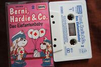 Berni, Hardie & Co. Nr. 2 Das Elefantenbaby 80er Europa Hörspiel MC Kassette