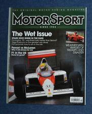 Motor Sport October 2007 Ferrari v McLaren, best in the wet, Alfa GTA, AGS