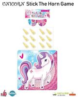 UNICORN STICK THE HORN GAME Kids Party Activity My Little Pony Girls Sleep Over