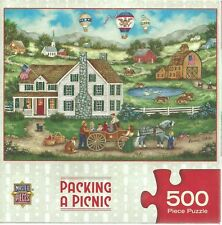 PACKING A PICNIC BY BONNIE WHITE - Complete - MASTER PIECES PUZZLE