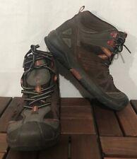MERRELL Capra Mid Waterproof Brown Sz 3m UK 2 EU34 Kids Hiking Boots