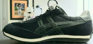 ASICS- ONITSUKA TIGER, EDR78 SHOES, MENS SIZE 9.5 , RETRO BLACK w FOREST GREEN