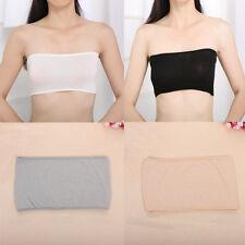Girls One Size Stretch Strapless Bandeau Wrapped Chest Safety Underwear Bra