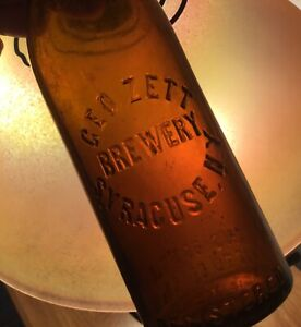 Old Syracuse NY Geo Zett Beer Bottle Advertising Early Registered Early 1900s