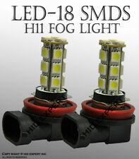 x2 LED H11 18 SMD Hyper Super White Fit Fog Light Replace Halogen Bulbs D862