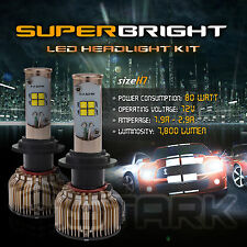 LED 80W 7800LM LED Kit CREE XT-E 6000K White Headlight Light Bulbs - H7 (B)