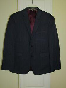 NEW Tommy Hilfiger Gibbs Blue Gray Sports Coat Blazer Jacket Mens Size 40 S