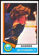 1974-75 OPC O PEE CHEE HOCKEY #121 JIM SCHOENFELD EX-NM BUFFALO SABRES CARD
