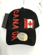 Canada Country Leather Original Collection Black Embroiderd Baseball Cap