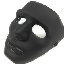 All Black Hip Hop Dancing men Mask Costume Prom Party Blank Simple Mask