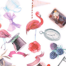 16x Flamingo Scrapbooking Frauen Dekorative Aufkleber DIY Handwerk Tagebuch^