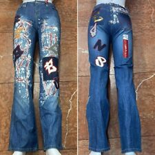 Women's Request Blue All Over Denim Pants