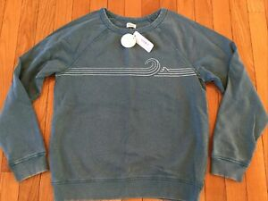 New NWT Gymboree Boys XL Size 14 Long Sleeve Crewneck Sweatshirt Green-Blue