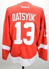 DETROIT RED WINGS PAVEL DATSYUK #13 REEBOK JERSEY 48 FIGHT STRAP
