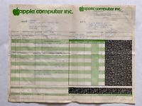 Vtg 1985 Apple Computer Business Sales Order Packing Slip Receipt Bill of Sale