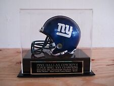 Mini Helmet Display Case With A Dallas Cowboys Super Bowl 30 Engraved Nameplate