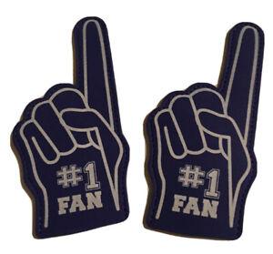 (Lot Of 2) Sports Mini Finger Foam: (5.in) Blue, #1 Fan Print.🚨New Without Tags