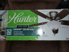 Hunter 53001 Fremont 52-Inch Low Profile Ceiling Fan Light Brushed Nickel NEW!