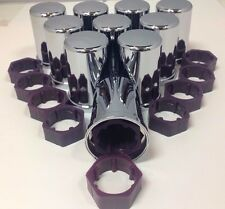 Peterbilt Top Hat 30mm Huck rivet frame covers - comes w/ purple insert (10pc)