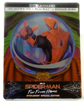 SPIDER-MAN FAR FROM HOME Blu-ray [4K UHD + 2D] Steelbook ITALY ULTRA RARE IMPORT
