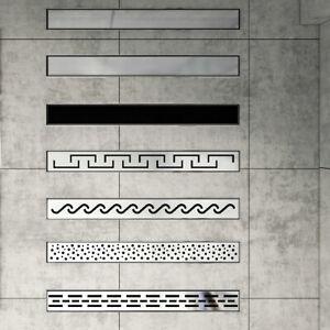 Duschrinne Edelstahl Bodenablauf Abfluss Befliesbar Duschablauf Badezimmer NEW