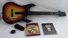 PS2 Rock Band Guitar Hero Controller Fender Sunburst WITH Dongle Tested PS3 PS4